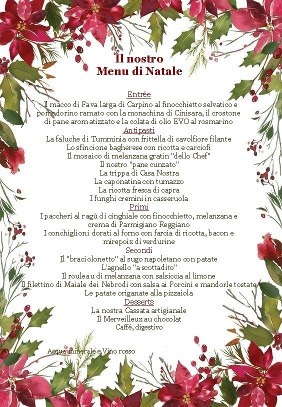 (Italiano) Menu Natale