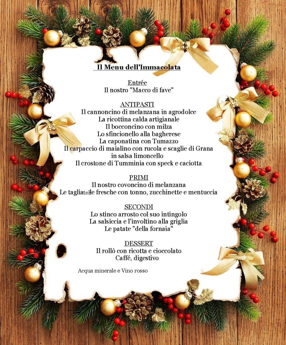 (Italiano) Menu dell'Immacolata