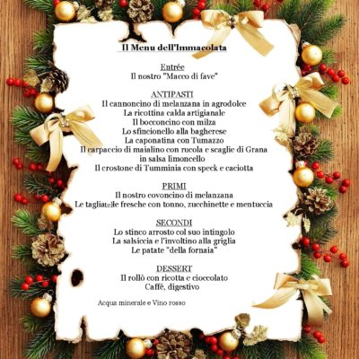 Menu dell'Immacolata